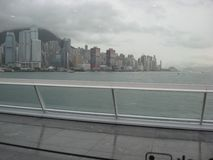 Sikt från terminalen för kryssningskepp, Kowloon, Hong Kong arkivbilder