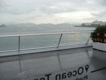 Sikt från terminalen för kryssningskepp, Kowloon, Hong Kong royaltyfria bilder