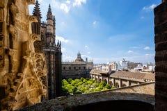 Sikt från tornet Giralda Royaltyfri Bild