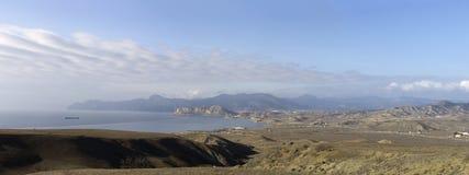 Sikt från udde Meganom (Krim, Ukraina) Arkivfoton