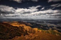 Sikt från uppe på pikmaximum Royaltyfri Fotografi