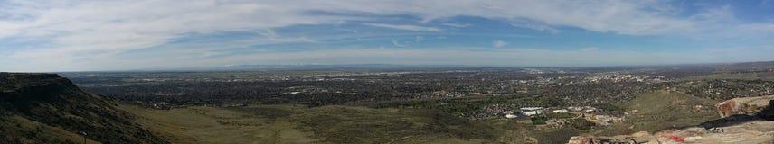 Sikt från uppifrån Arkivfoto
