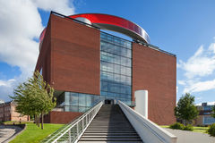 Sikt från utsida av konstmusemet i Århus royaltyfri fotografi