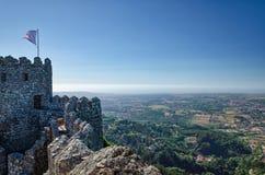 Sikt från väggar av slotten av hederna Royaltyfria Foton