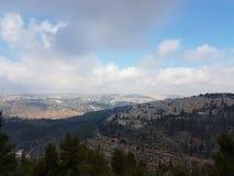 Sikt från Yad Vashem av Jerusalem royaltyfria bilder