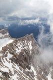 Sikt från Zugspitze, Tyskland Arkivfoton