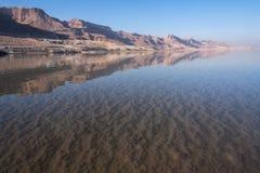 Sikt för dött hav, Ein Bokek, Israel Fotografering för Bildbyråer