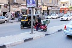 Sikt för Egypten Kairogata Fotografering för Bildbyråer