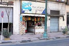 Sikt för Egypten Kairogata Royaltyfria Bilder