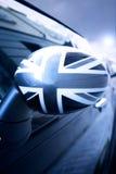 sikt för engelsk flagga för bil bakre Fotografering för Bildbyråer