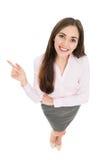 Sikt för hög vinkel av den unga affärskvinnan Arkivfoton