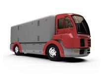 sikt för lastbil för lastbegrepp framtid isolerad Arkivbilder