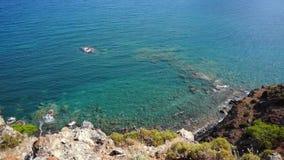 Sikt fr?n kullen till medelhavet i Phaselis Stad av forntida Lycia kalkon arkivfilmer