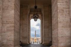 Sikt fr?n Vatican City, hj?rtan av katolsk kristendomen royaltyfria foton