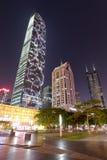 Sikt för Shenzhen stadsnatt Royaltyfri Bild