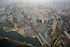 Sikt från gränsmärketornet, Yokohama, Japan Royaltyfria Foton
