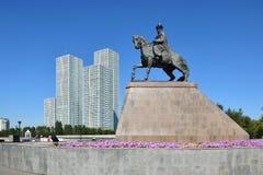 Sikt i Astana i Astana arkivbild