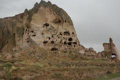 Sikt i den Cappadocia regionen Arkivfoto