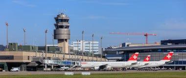 Sikt i den Zurich flygplatsen Royaltyfri Bild