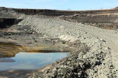 Sikt in i en kolgruva Arkivbilder