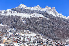 Sikt i Engelberg, Schweiz Royaltyfri Fotografi