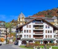 Sikt i Engelberg, Schweiz Fotografering för Bildbyråer