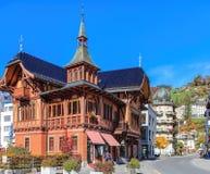 Sikt i Engelberg, Schweiz Arkivfoto