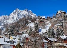 Sikt i Engelberg, Schweiz Arkivbild