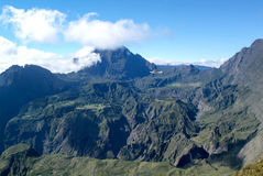 Sikt in i inre av Reunion Island Royaltyfri Foto