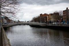 Sikt i Irland dublin Royaltyfri Fotografi