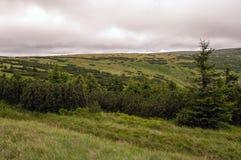 Sikt i jätte- berg poland Fotografering för Bildbyråer