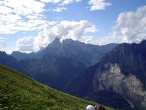 Sikt i Julian Alps Arkivfoton