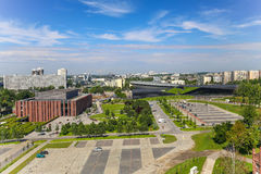 Sikt i Katowice, Polen/landskap Royaltyfri Foto