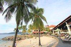 Sikt i Sabah i Malaysia Royaltyfri Bild