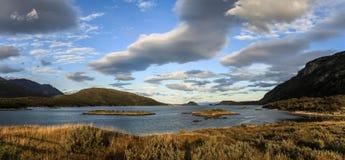 Sikt i Tierra del Fuego National Park, Patagonia, Argentina Arkivbilder