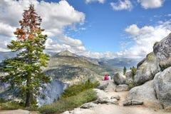 Sikt i Yosemite NP Fotografering för Bildbyråer