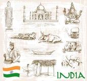 Sikt Indien royaltyfri illustrationer
