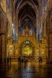 Sikt inre Leon Cathedral Arkivfoto