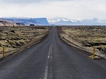 Sikt längs Island Ring Road Fotografering för Bildbyråer