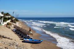 Sikt längs stranden, Marbessa Arkivfoton