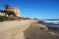 Sikt längs stranden, Marbessa Royaltyfri Foto
