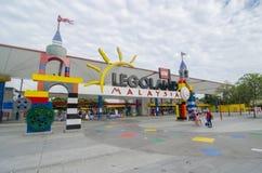 Sikt Legoland för främre ingång av Legoland Malaysia Royaltyfria Bilder