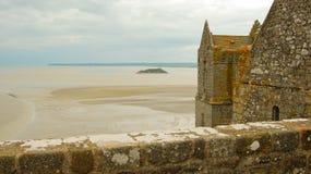 Sikt Mont Saint Michel Royaltyfria Bilder