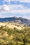 Sikt in mot monteringen Hamilton i Joseph Grant County Park, San Jose, Kalifornien arkivfoton