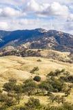 Sikt in mot monteringen Hamilton i Joseph Grant County Park, San Jose, Kalifornien royaltyfria bilder