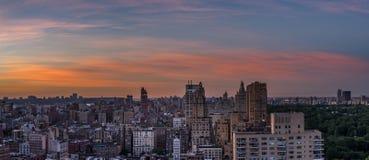 Sikt norrut från den västra 66th gatan Manhattan Royaltyfri Bild