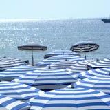 Sikt om en strand i Cannes Royaltyfria Foton