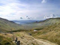 Sikt område över för den Scandale dalen, sjö Fotografering för Bildbyråer