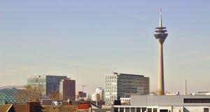 Sikt ovanför Dusseldorf royaltyfri foto