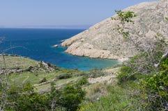 Sikt på ön av Krk Royaltyfri Fotografi